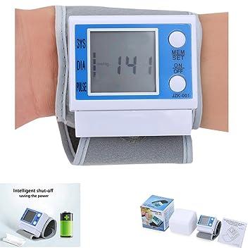 Tensiómetro de muñeca – Fácil Health Care portátil digital de presión arterial Tester automática con