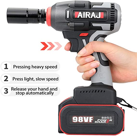 Case /& 17mm,19mm,21mm Impact Sockets! Kielder 18V Cordless Impact Wrench 1//2 Drive 430Nm Torque 2 x 4.0AH Batteries Charger