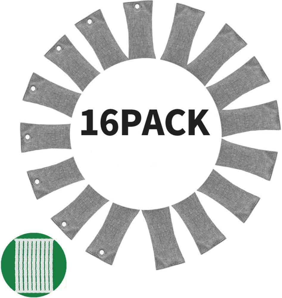 12 Packs NATURAL Air Purifying Bag,150g Each Pair Mini Bamboo Charcoal Bags,Natural Air Fresheners Bags,Odor Absorber for Home Cars Closets Shoes and and Office