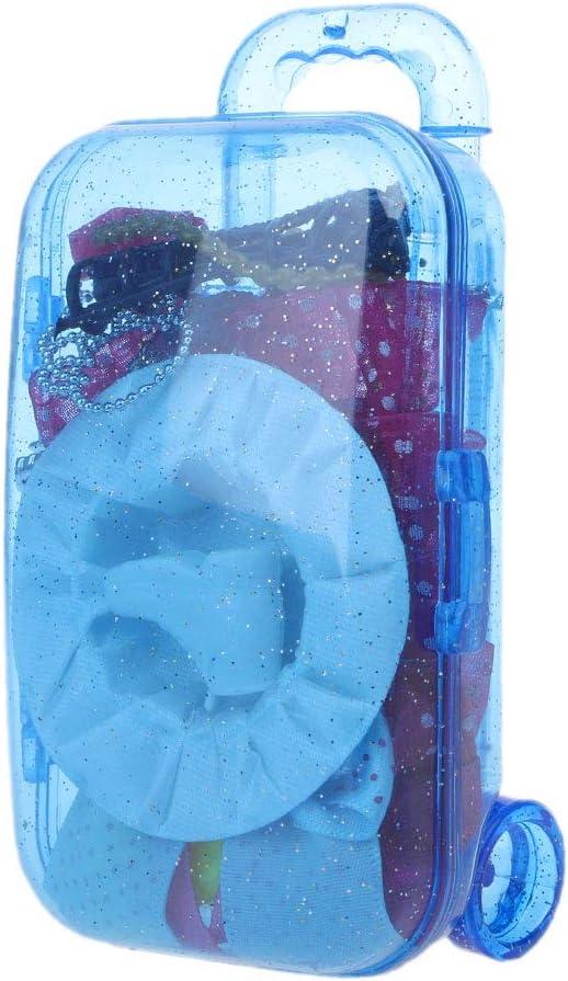 Fuwahahah Mini maleta para cochecito de bebé para Barbie American Girl Doll Kids Toy Dolls Accessories Candy Box regalo B