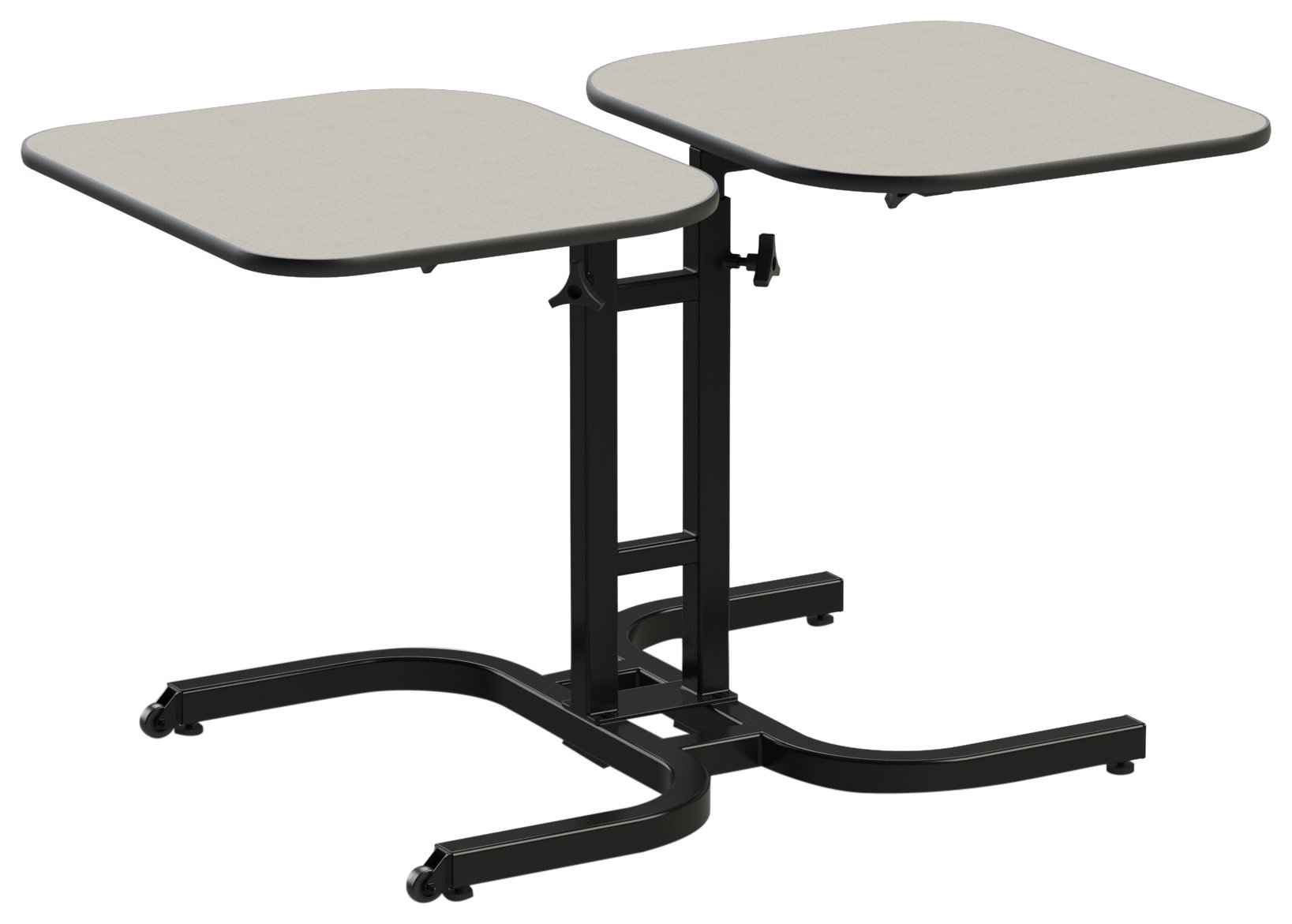 Wheel chair height adjustable table (2 person) single pedistal