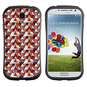 DesignCase Premium TPU / ABS Hybrid Back Case Cover Samsung Galaxy S4 IV i9500 ( cute triangle )