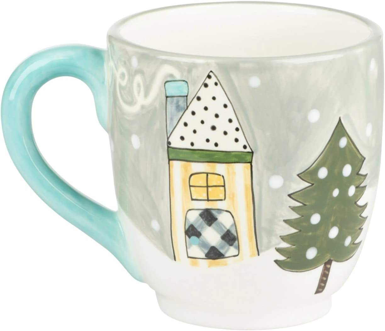 Glory Haus - Christmas Holiday Mug, Hand Painted, Ceramic (Chilly Weather Cozy Home)