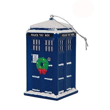 Amazon.com: Doctor Who TARDIS Police Box Christmas Tree Ornament ...