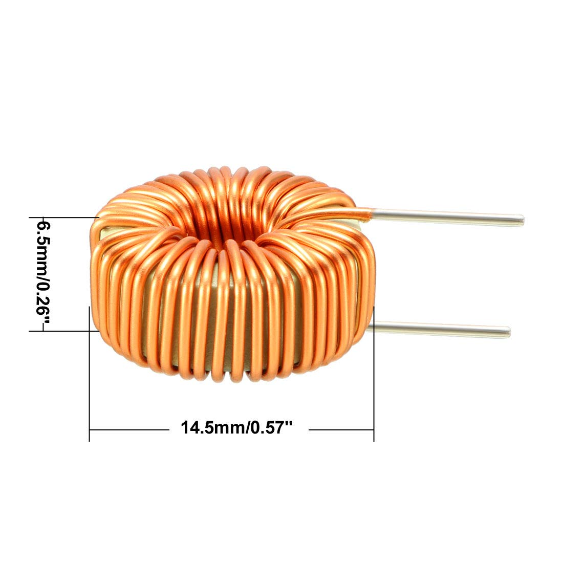 Uxcell 2pcs Toroid Magnetic Inductor Monolayer Wire Wind Wound 10mh Wiring Diagram Inductance Coil A18061100ux0035