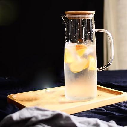 Creativa transparente enfriar agua gran capacidad botella de vidrio claro jarra de bebidas fría garrafa cerveza