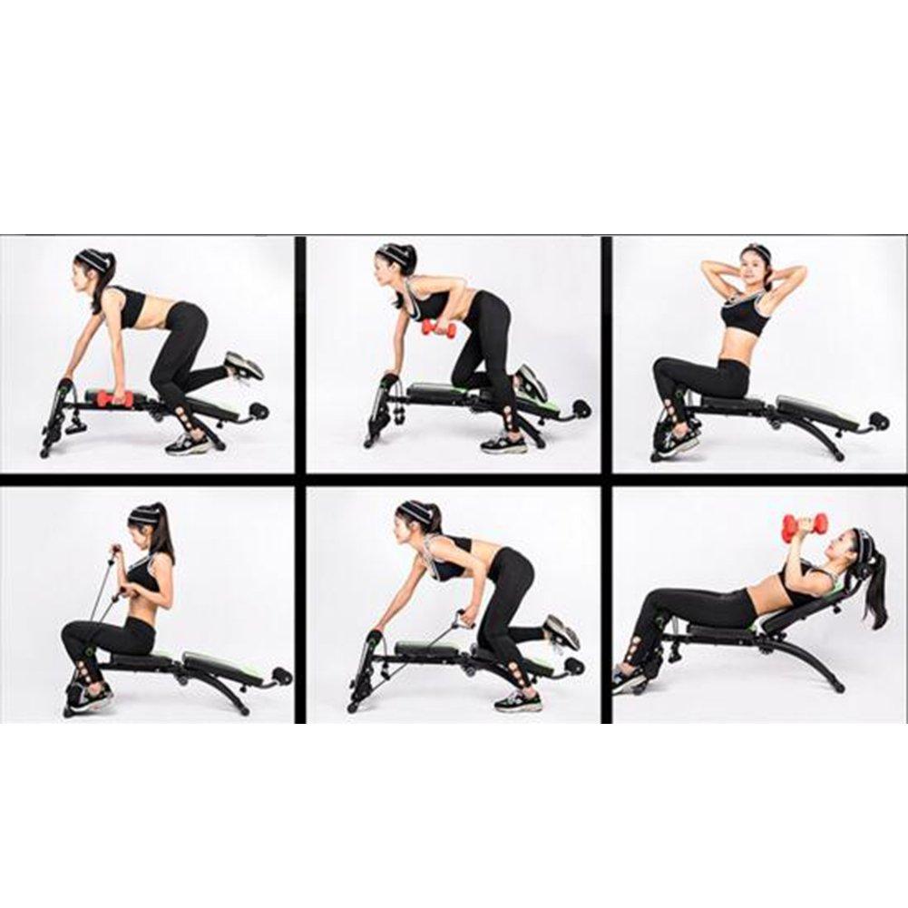 Xiangjun casa multifunción Supino Junta mancuerna banco abdominal Junta multifunción silla de fitness gimnasio equipo: Amazon.es: Deportes y aire libre