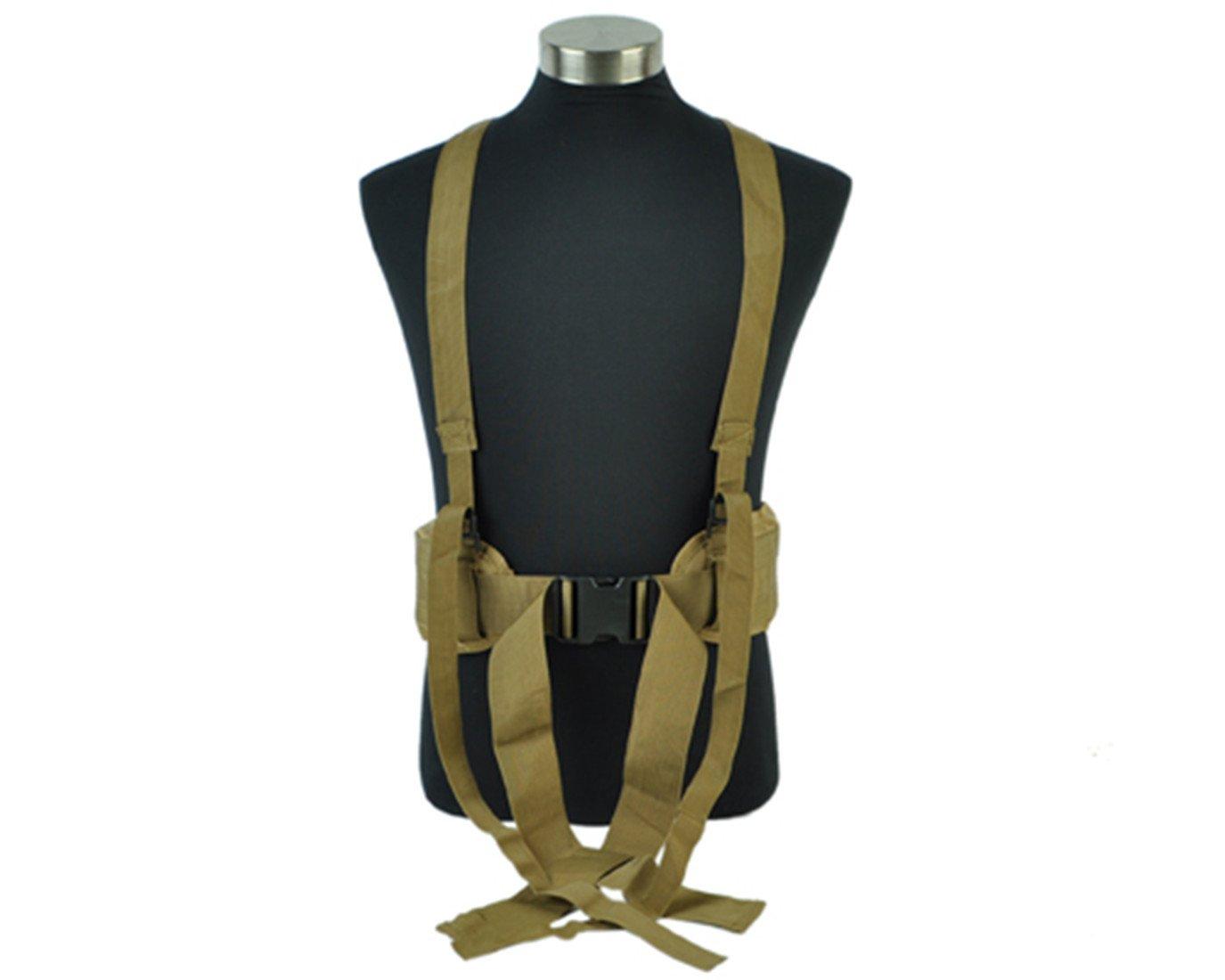 Cinturón de cintura táctico, regulable MOLLE Airsoft combate deber ...