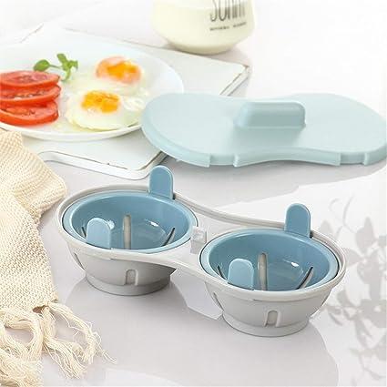 LMFLY Egg Cocedor de HuevosMicroondas Vapor de Huevo Diseño ...