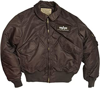 product image for US CWU-45P Alpha Air Force AF Army Pilot Flight Military Bomber Jacket, Brown