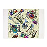 CafePress - Musial Notes - Decorative Area Rug, 5'x7' Throw Rug