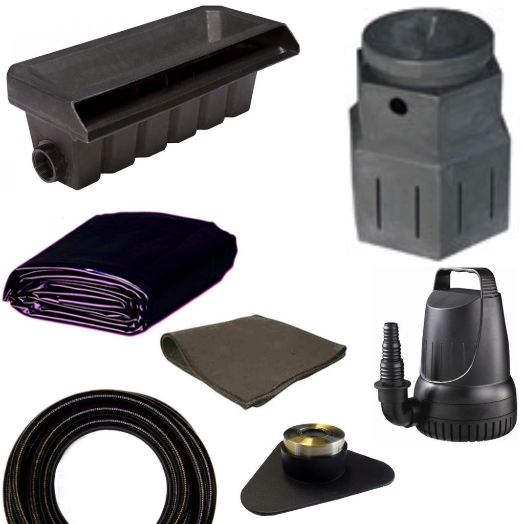 10' x 25' Small Pondless Waterfall Kit, Pondbuilder PB1762 20'' Waterall & PB1366 Mini Pump Canyon, 3,300 GPH Pump - PSP0