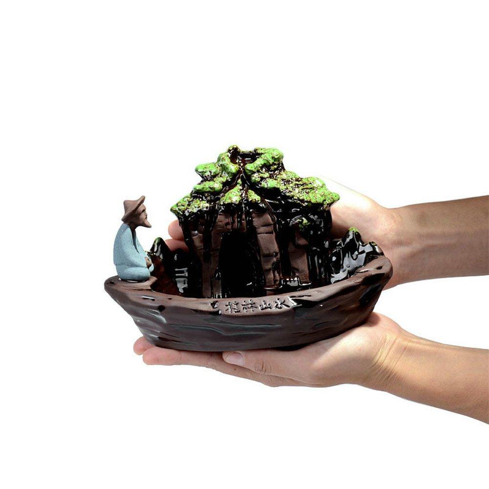 Eforlife Ceramic Incense Holder Backflow Censer Home Decoration (Guilin Scenery) by Eforlife (Image #3)