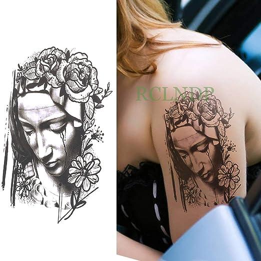 Yyoutop Impermeable Tatuaje Temporal Flor Rosa Vieja Escuela Falso ...
