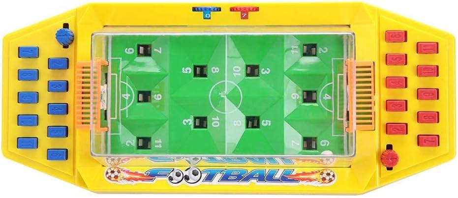 Juguete de fútbol de Mesa, Futbolin Foosball Juguete de fútbol Interactivo para Escritorio, Juego de Dos Jugadores de fútbol para los niños de los niños(Yellow)