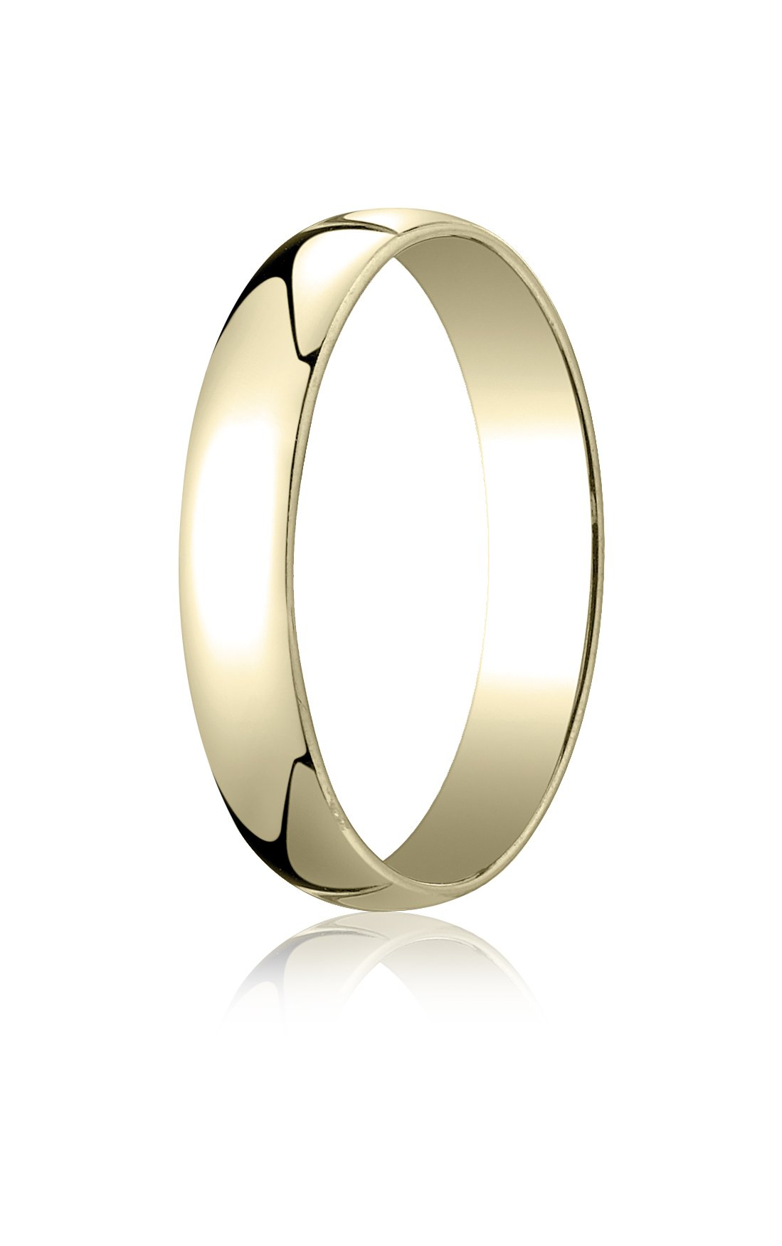 Womens 14K Yellow Gold, 4.0mm Low Dome Light Ring (sz 7.5)