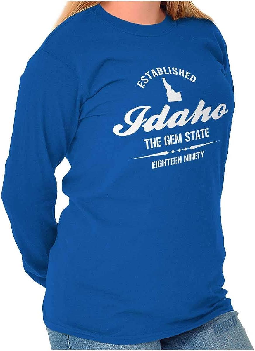 B00WETN3YK Classic Teaze Idaho The Gem State Sport Map Tourist Gift Long Sleeve Tee 61SO-xnsy7L