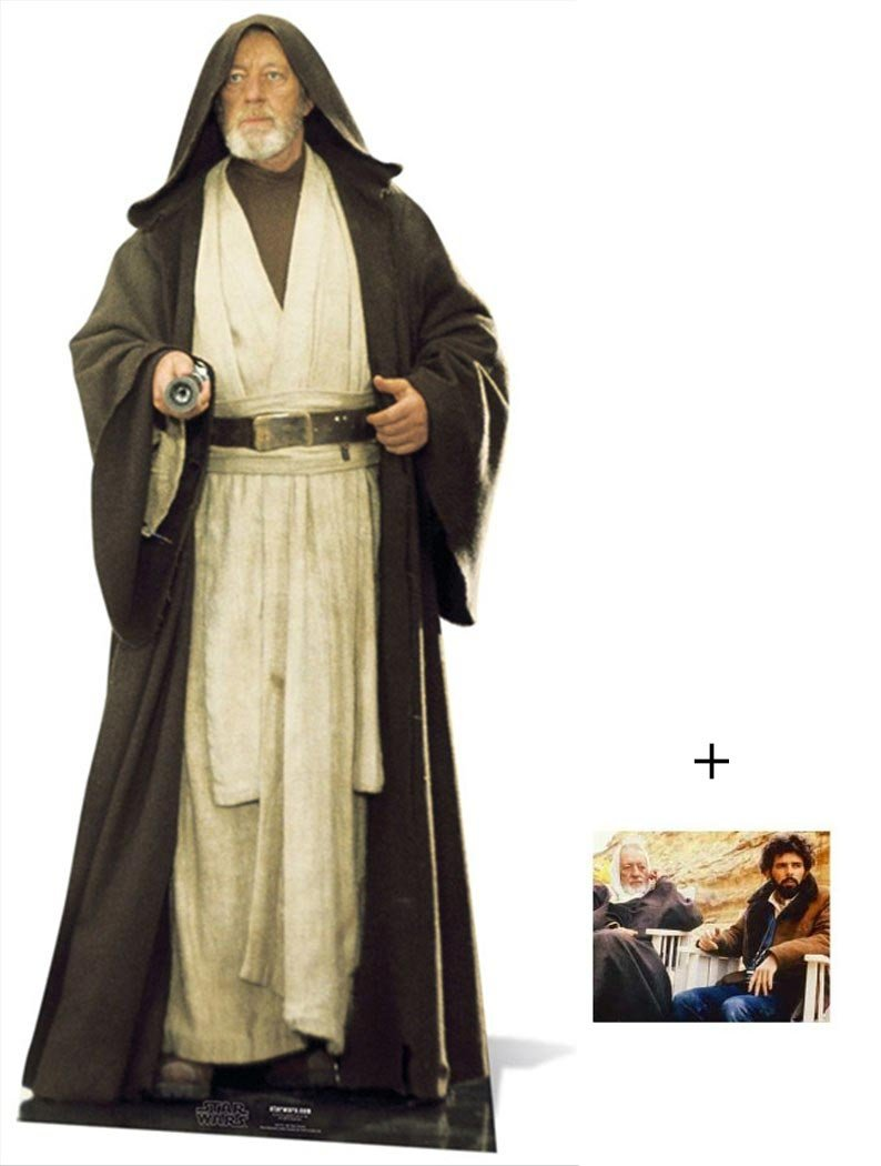 Fan Pack - Obi-Wan Kenobi Alec Guinness Star Wars Lifesize Grand Silhouette En Carton Standee / Stand-Up - Avec Star Photo (Dimensions 25x20 Cm) BundleZ-4-FanZ Fan Packs