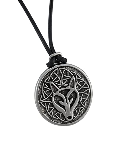 Amazon deva designs celtic wisdom wolf head necklace pendant deva designs celtic wisdom wolf head necklace pendant pewter aloadofball Choice Image