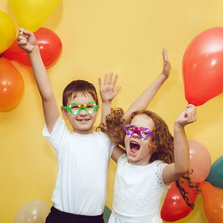 Joyibay LED Occhiali per Bambini Occhiali a LED Luminosi per Feste con 3 Diverse modalit/à 6PCS Occhiali Divertenti for Christmas Concerti di Carnevale di Halloween Birthday Party Color Random