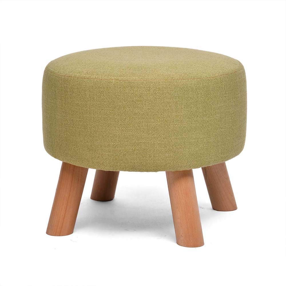 QTQZ Brisk- Fashion Stool Small Wooden Bench Stool Creative Stool Can Be Removed and Cleaned Shoes Stool Fabric Sofa Stool (A Variety of Styles Optional) (Color: Q)