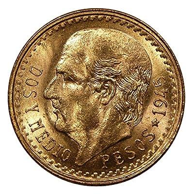 1945 Mexico 2 1/2 Pesos Gold Coin