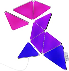 8WASAI Triangle Lights RGB Colorful Wall-Mounted LED Light APP Controllable Triangle Gaming Lights Perfect Decoration for Bedroom, Living Room with 16 M Colors Pack of 9