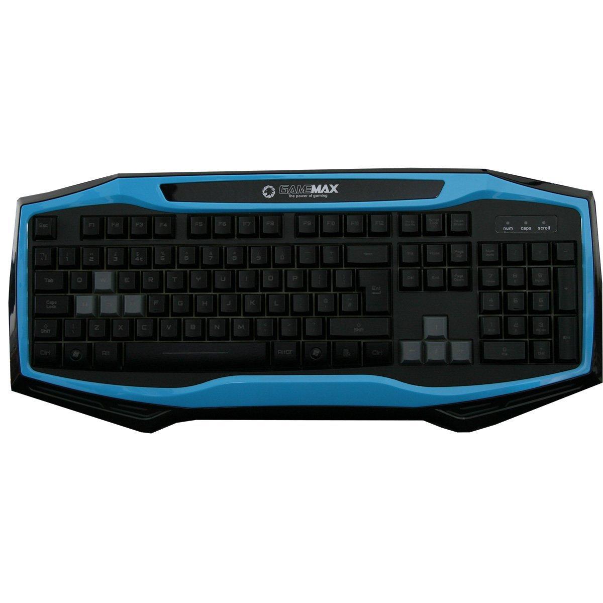 Game Max GMX-Raptor - Pack de Teclado, ratón con Alfombrilla y Auriculares con retroiluminación LED, Color Negro y Azul: Amazon.es: Informática