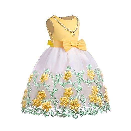 Btruely Herren 🍁Ropa bebé 2018 Vestidos Ropa bebé Verano para bebé Niña sin Mangas bebé Vestidos Floral Princesa Fiesta Vestido de Novia para Cumpleaños ...