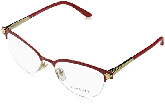 e9bfabf41a40 Amazon.com: Versace Women's VE1235 Eyeglasses 53mm: Clothing