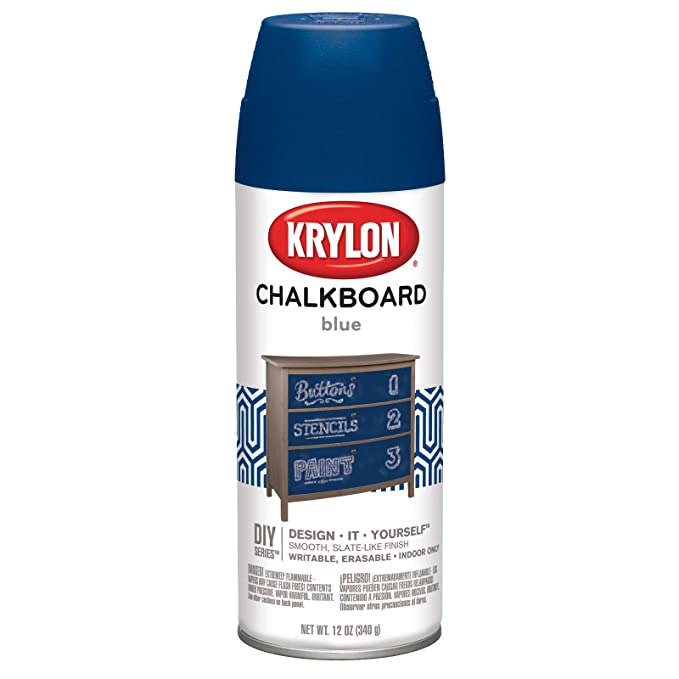 Amazon.com: Krylon i01804000 Pizarra Azul Matte Spray de ...