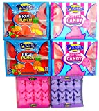 Peeps Marshmallow Chicks Variety Pack: Cotton Candy, Fruit Punch,and Bunnies