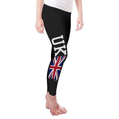 1f4565217ed8a Amazon.com: TWISTED ENVY UK Union Jack Flag Women's Funny Leggings: Clothing