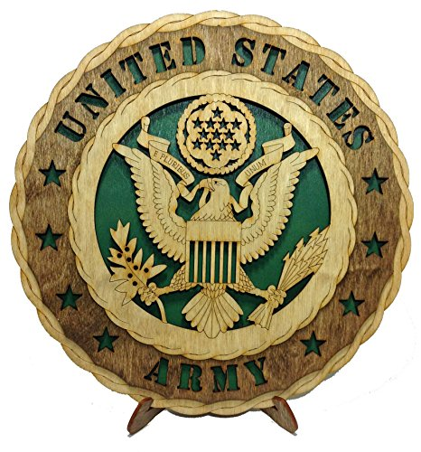 Army Decorative Laser Wooden Wall Plaque