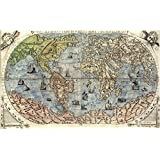 """MP70 Vintage 1565 Historical Antique Old World Nautical Sea Map Poster RePrint - A1 (841 x 610mm) 33"""" x 24"""""""
