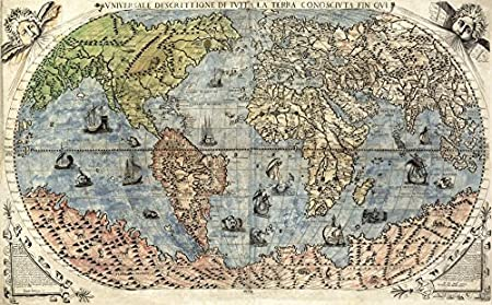 Mp70 vintage 1565 historical antique old world nautical sea map mp70 vintage 1565 historical antique old world nautical sea map poster reprint a2 610 gumiabroncs Images