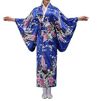 LJLis Traje De Tradicional Japonesa Kimono para Mujer Elegante ...
