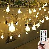 LEDGLE 50 LED Globe String Light Decorative LED Ball Fairy String Light Glittering Ball Starry String Light, 8 Lighting…