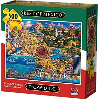 Dowdle Jigsaw Puzzle - Best of Mexico - 500 Piece: Toys & Games