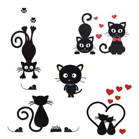 Kesote Decorativo Pegatina en Forma de Gatos Removibles e Impermeables Pegatinas para Interruptores, Pared,