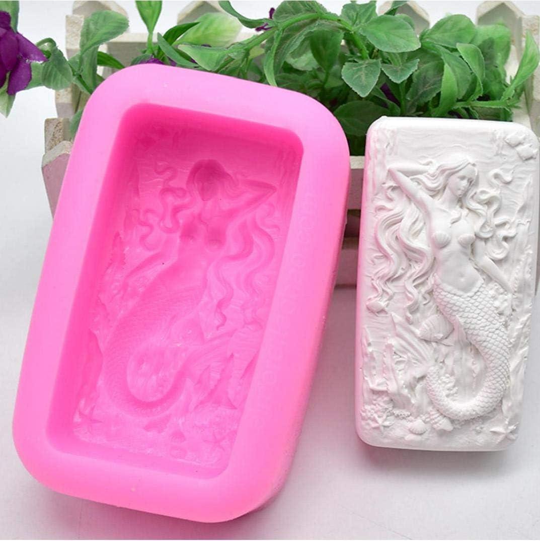 Petite Sir/ène Moule Silicone G/âteau Moule D/écoration Pour Fondant Savonnerie Cake Mold Moule Outils Bricolage Cuisson