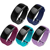 Gear Fit2 Pro/Fit2 Band OenFoto Replacement Silicone Accessories Strap for Samsung Gear Fit2 Pro SM-R365/Gear Fit2 SM-R360 Smartwatch -5-Pack