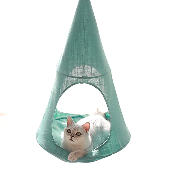 Amazon.com : ALXDR Cat Hammock Hanging Type Kitten Bed Detachable Pet Linen Sling Attic Multi-useage Breathable Loft for Summer Living, Green : Garden & ...