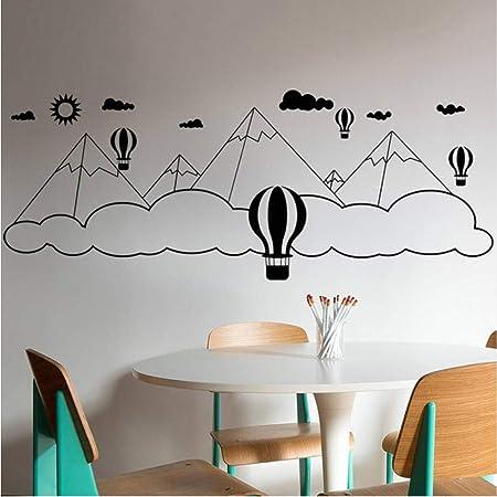 jecswolz Globo Montaña Nubes Etiqueta De La Pared para Niños ...