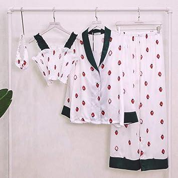Pijamas Enteros Pijama Sexy De Tres Piezas De Algodón ...