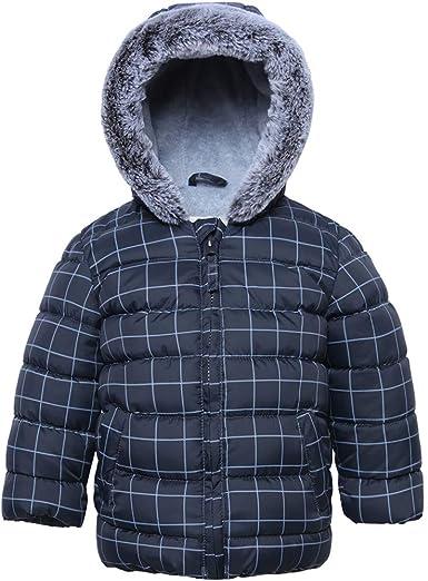 Boys Winter Parka Water Resistant Hooded Puffer Fleece Lined Jackets Coats