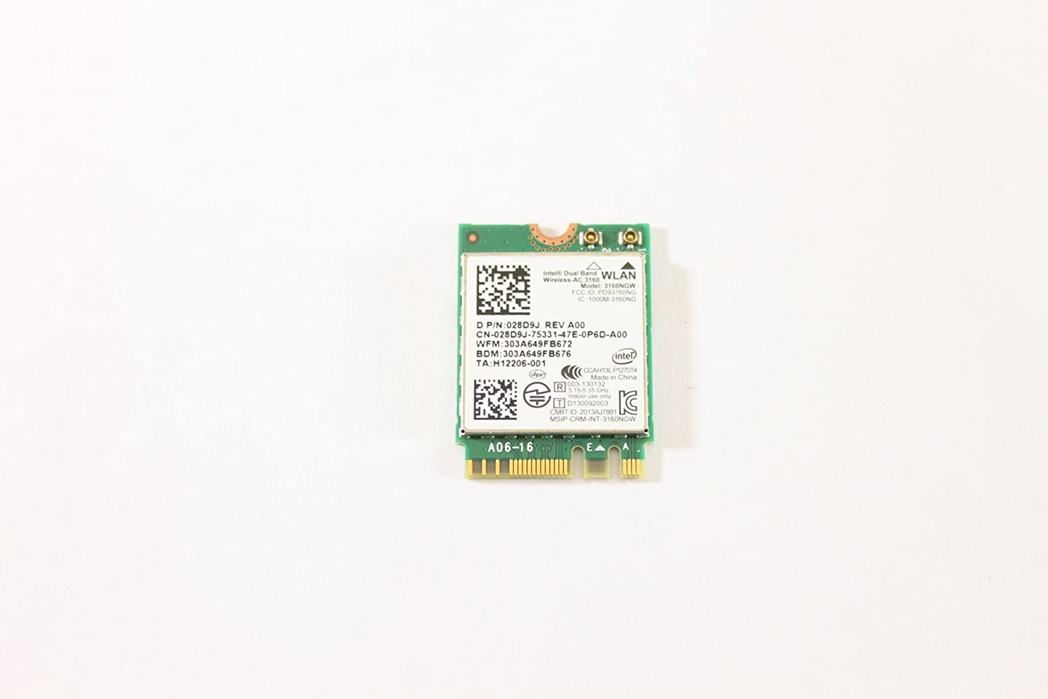 Dell 28D9J WLAN Bluetooth 802.11ac Wireless Card 3160NGW Inspiron 7547 5447 5547