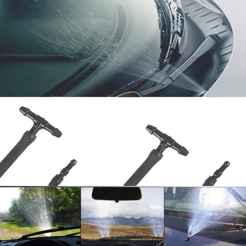 Universal Windshield Washer Fluid Hose Connector I-Type, T-Type,Y-Type Think Auto 15 Pcs Windshield Washer Hose Connectors