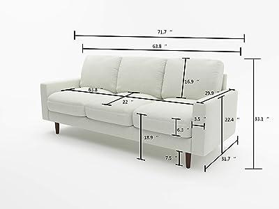 US Pride Furniture S5421-S Obadiah Sofa, Beige