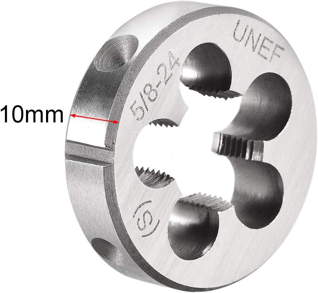 uxcell 2 Pcs 1//4 inches-28 UNF Right Hand Round Die Machine Thread Die HSS High Speed Steel Screw Die Tool Threading Die